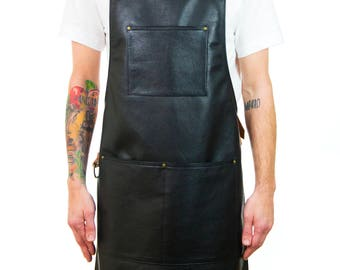 Leather Apron with Tiki Canvas Lining