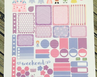 Princess The First Weekly Planner Stickers Set - for use with Erin Condren - Happy Planner