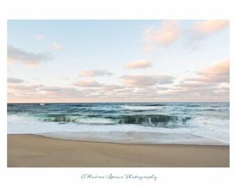 Dreamy Waves.  Cape Cod. Coastal Print. Seascape. Truro.  Ocean Artwork. Fine Art Print. Wall Art