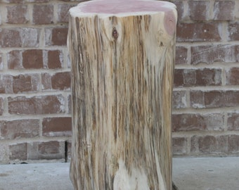 Tree Stump Side Table, Log Decor, End Table, Seat, Stool, S, M, L avail, unfinished, sanded ready for DIY home, art, landscaping, project