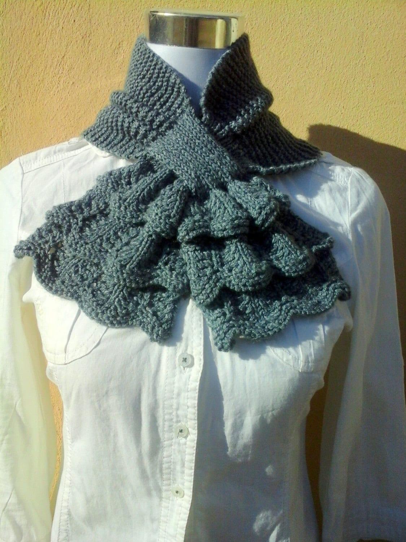 Dorable Knitted Keyhole Scarf Pattern Festooning - Blanket Knitting ...