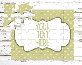 Create Your Own Puzzle - Pregnancy Announcement - Custom Puzzle - Personalized Puzzle - Announcement Ideas - Wedding Announcement - CYOP0203