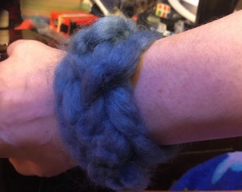 Knitted bracelet. Keeps you so warm!
