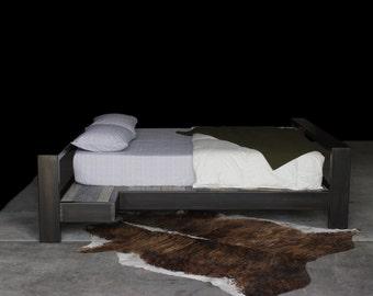 industrial modern platform bed (queen)