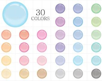 Bubble Clipart, Translucent Bubbles Clipart, Soap Bubbles Clip Art, Digital Bubbles, Colorful Bubbles Clipart, Transparent Bubbles Clipart