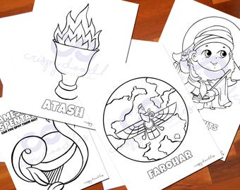 Zoroastrian coloring pages -1