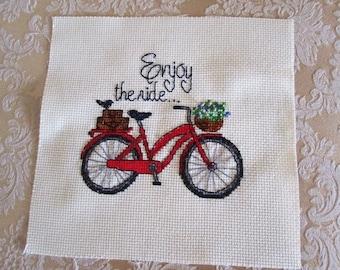 Red Bike Cross-Stitch