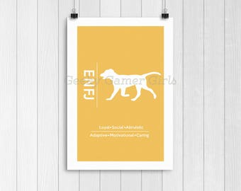 ENFJ Minimalist Poster | Typology Poster | Personality Type Poster 11x17 | The Protagonist