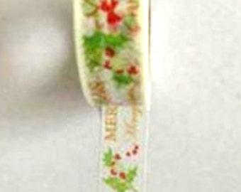 Merry Christmas Themed Washi Tape (Japanese Tape, Decorative Adhesive, Decorative Tape)