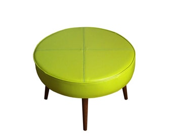 Ottomans, benches, & footstools - Vinyl Upholstery - Mid Century Inspired Stools