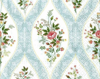 4 Decoupage Napkins, Paper Napkin for Decoupage, Rose Flowers, Craft Napkin, Flower Napkin, Decoupage Paper