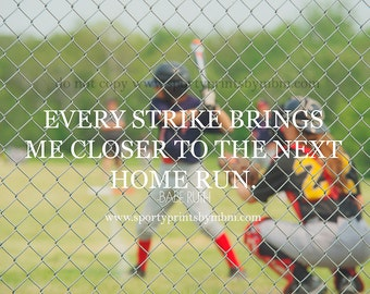 ON SALE 8x10 The Next Home Run Baseball Print