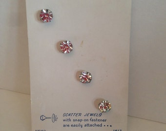 SALE Rhinestone Scatter Jewels 4 on Original Card Nemo Snap Ons