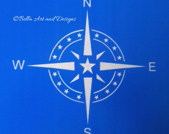 List 5 -  Compass with star stencils (3 different sizes) *Free gift with every order*