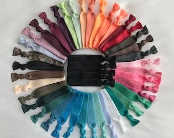 Bulk of 45 hair ties no crease elastic ponytails topknot holder yoga hair ties