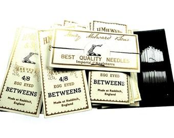 Vintage sewing needles, H.Milward & Sons