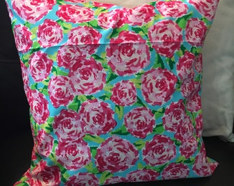 Lilly Pulitzer Inspired 16x16 Throw Pillow Cover