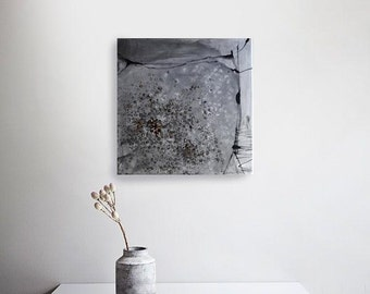 Abstract square painting, abstract canvas, abstract art, abstract art on canvas, abstract wall art canvas, contemporary art, FREE SHIPPING