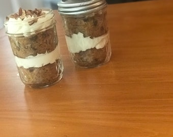 Carrot Cake Cupcakes in a jar