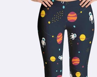 Science Leggings, Astronomy Leggings, Science Clothing, Science Teacher Gift, Stars Leggings, Planet Leggings, Space Leggings