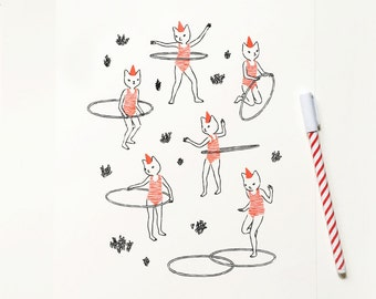 HULA HOOP SCREENPRINT