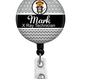 Badge Reel - Id Badge Holder - Badge Holder - ID Badge Reel - Retractable Badge - X Ray Technician - Name Badge Holder - Nurse Badge Reel -