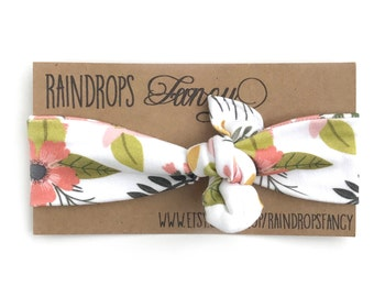 Sprigs & Blooms Organic Cotton Headband / Topknot Headband / Knotted Headband / Baby Headband / Toddler Headband