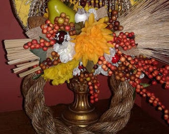 New Year Rope Wreath