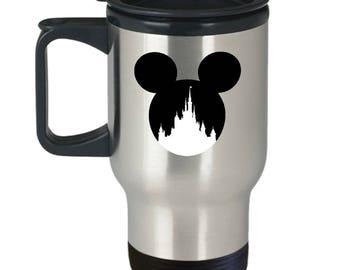 Magic Castle Mouse Travel Mug Gift Love Fan Fanatic Magical Coffee Cup