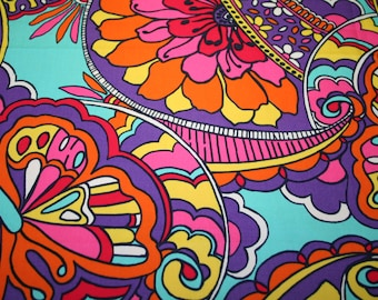 """Lilly Pulitzer~Rare and Hard to find~ fabric ~""""OPTICAL CONFUSION""""~ 12"""" by 12""""~ 100% sateencotton"""