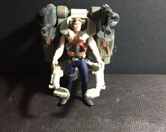 1996 Power of the Force Star Wars Vintage Hasbro Han Solo - With Smugglers Flight Pack Deluxe Star Wars Loose Figure