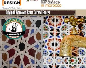 Marokkanische Garten/Waschbecken  Wasserhahn aus Messing   Handgearbeitet 100 %