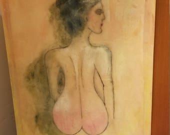 Egyptian Lady in encaustic. 11x14 on cradled wood panel. Original artwork.