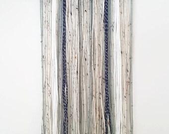 Neutral Yarn Wall Hanging-Wall Decor-Boho-Nuetral-Dorm Decor-Tapestry-Housewarming