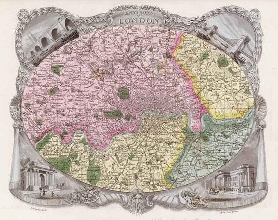 Vinland Map High Resolution London 1837. Antique m...