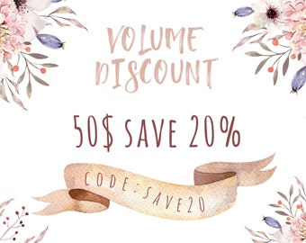 Volume Discount 20% off. Do not buy this listing!!!