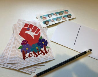 RESIST postcards - set of 10