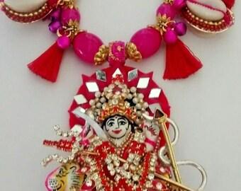 hindu goddess durga/kali festival pendant/necklace