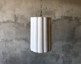 1960s velvet swag lamp