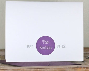 Est Date, Established Date, Bridal Shower Thank You Cards, Wedding Thank You Cards, Wedding, Thank You Cards Affordable Weddings