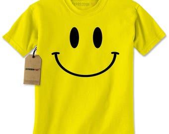 Big Smile Face Fun Emoji Mens T-shirt