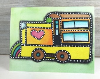 Joy Train - Blank Greeting Card - Any Occasion