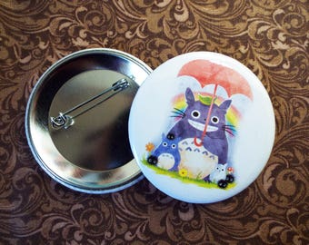 Totoro and Friends Button Pin