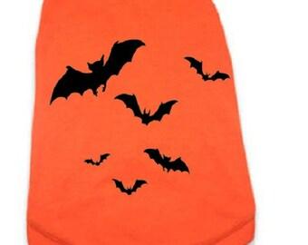Dog Shirt - Halloween Dog Tee Shirt - BATS