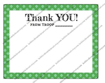 Troop Note Card - A2 size [Instant Download]