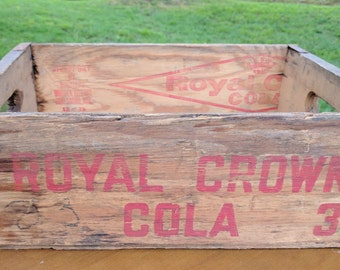 Vintage Wooden Royal Crown Cola Soda Crate