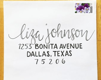 Wedding Calligraphy - Custom Hand Drawn Lettering and Styles: Pansy