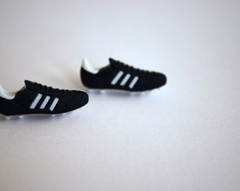 Soccer Earrings -- Soccer Cleats Studs, Soccer Studs, Silver, Athletes