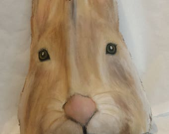 Bunny, palm frond art