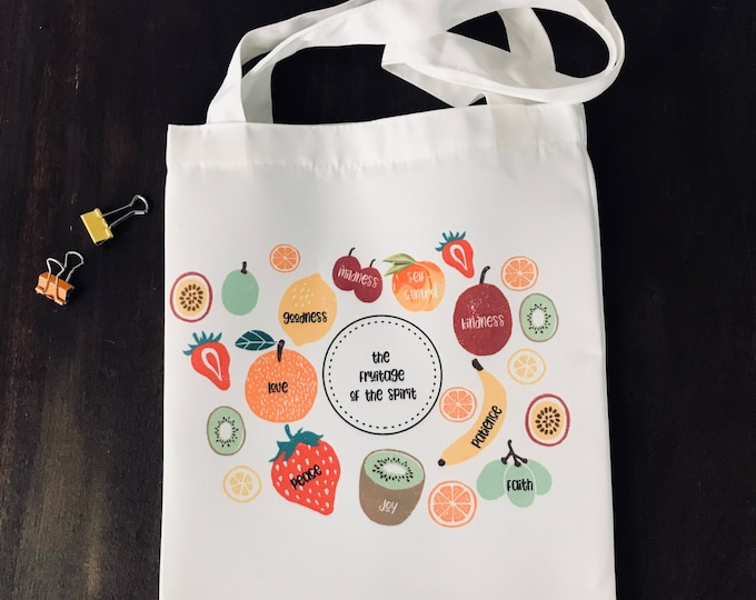 Everday Fruitage of the Spirit Canvas Bag
